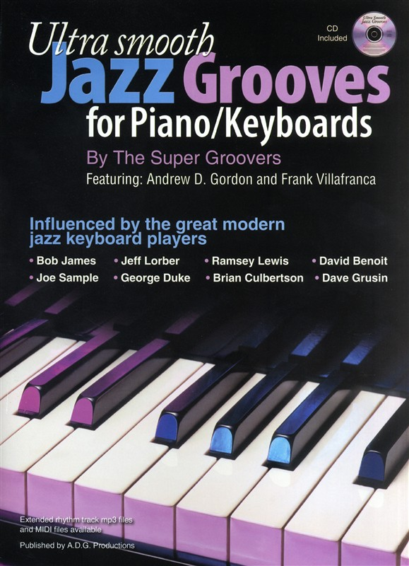 Piano, keyboard and organ books for Blues, Jazz, Latin, Rock