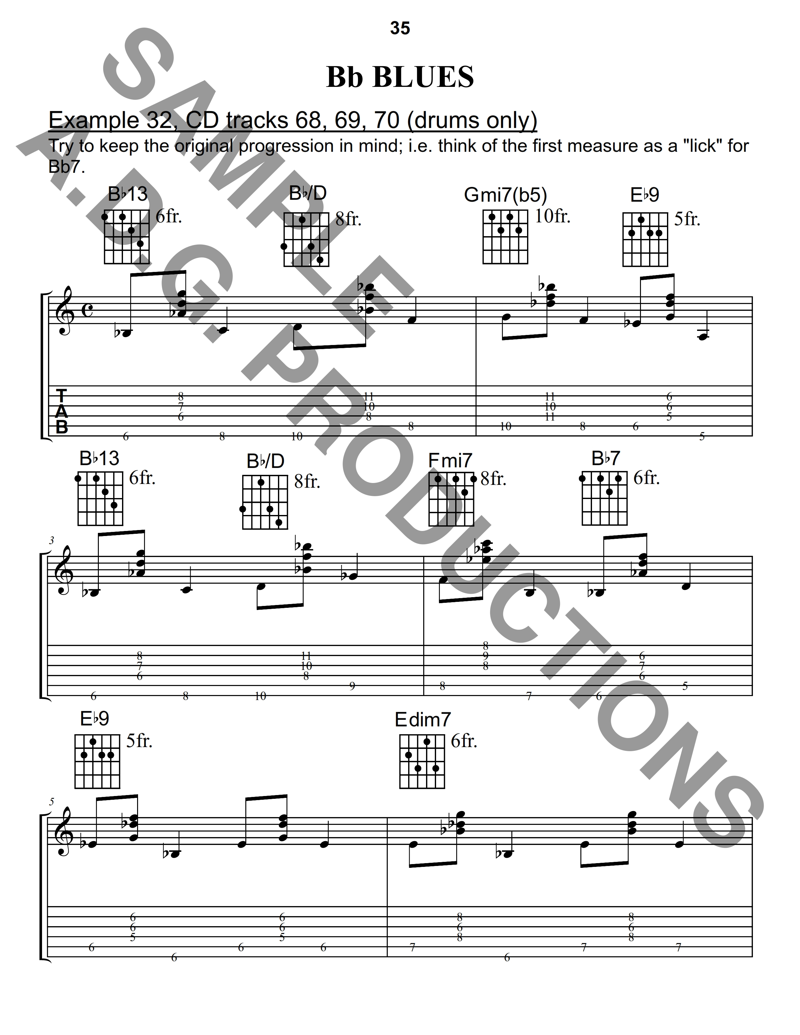 Walking Bass Lines for Jazz Guitar PDF file