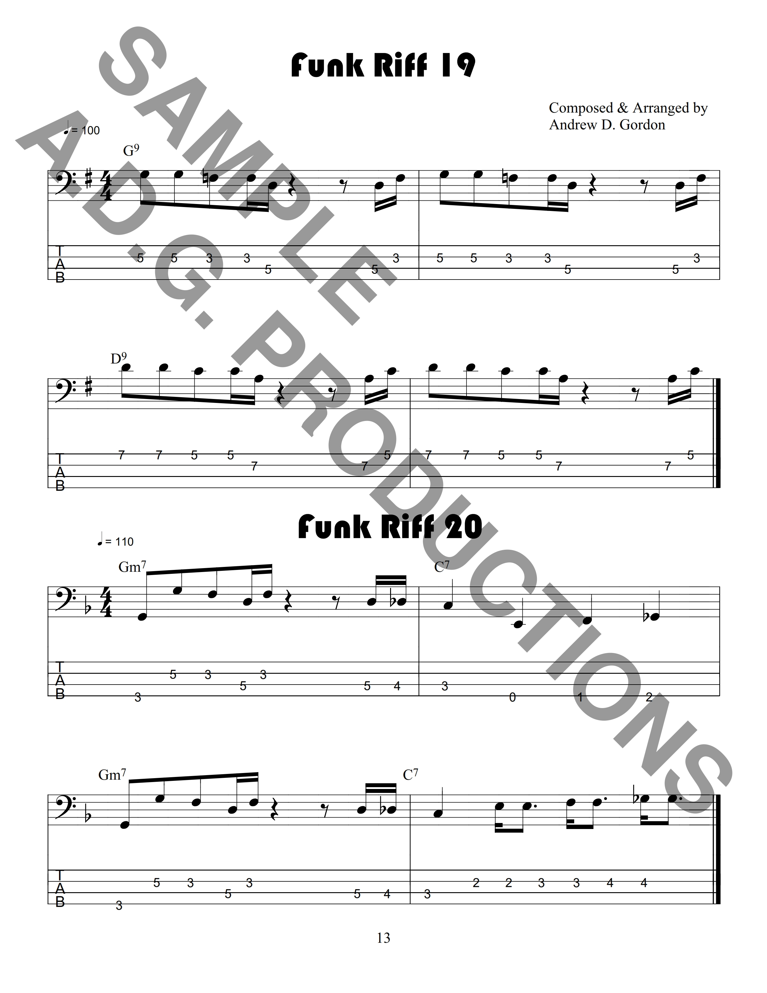 Outta Sight Funk and R&B Riffs for Bass PDF file
